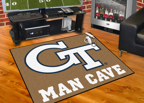 Georgia Tech Man Cave All-Star Mat 33.75x42.5 - FANMATS - Dropship Direct Wholesale