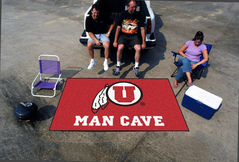 University of Utah Man Cave UltiMat Rug 5x8 - FANMATS - Dropship Direct Wholesale