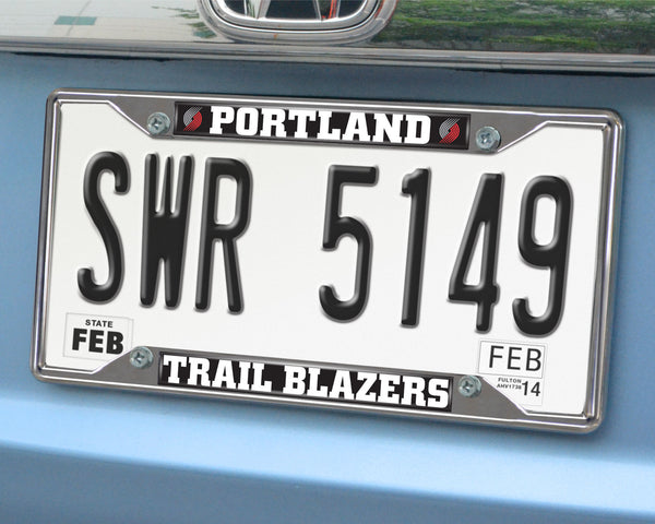 NBA - Portland Trail Blazers License Plate Frame 6.25x12.25 - FANMATS - Dropship Direct Wholesale
