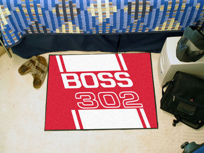 Boss 302 Starter Rug 19x30 - Red - FANMATS - Dropship Direct Wholesale - 2
