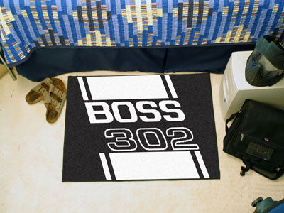 Boss 302 Starter Rug 19x30 - Black - FANMATS - Dropship Direct Wholesale - 2