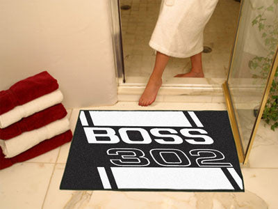 Boss 302 All-Star Mat 33.75x42.5 - Black - FANMATS - Dropship Direct Wholesale - 2