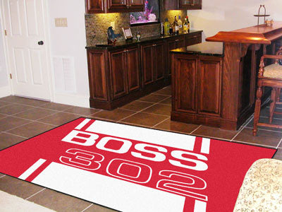 Boss 302 Rug 5x8 - Red - FANMATS - Dropship Direct Wholesale - 2