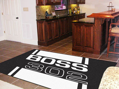 Boss 302 Rug 5x8 - Black - FANMATS - Dropship Direct Wholesale - 2