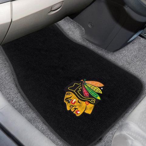 Chicago Blackhawks 2-pc Embroidered Car Mats 18x27 - FANMATS - Dropship Direct Wholesale