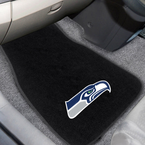 Seattle Seahawks 2-piece Embroidered Car Mats 18x27 - FANMATS - Dropship Direct Wholesale