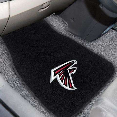 "NFL - Atlanta Falcons 2-piece Embroidered Car Mats 18""x27"" - FANMATS - Dropship Direct Wholesale"