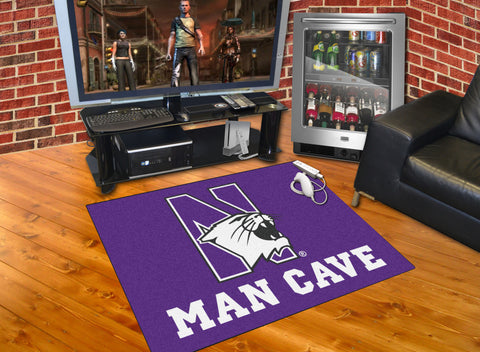 Northwestern University Man Cave All-Star Mat 33.75x42.5 - FANMATS - Dropship Direct Wholesale