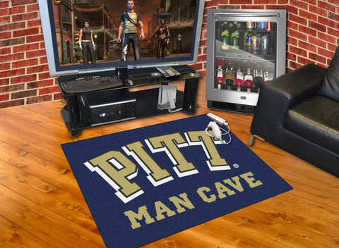 University of Pittsburgh Man Cave All-Star Mat 33.75x42.5 - FANMATS - Dropship Direct Wholesale
