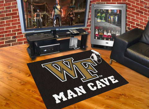 Wake Forest Man Cave All-Star Mat 33.75x42.5 - FANMATS - Dropship Direct Wholesale