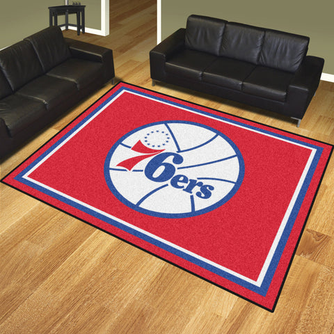 NBA - Philadelphia 76ers 8x10 Rug - FANMATS - Dropship Direct Wholesale