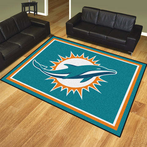 Miami Dolphins 8x10 Rug - FANMATS - Dropship Direct Wholesale