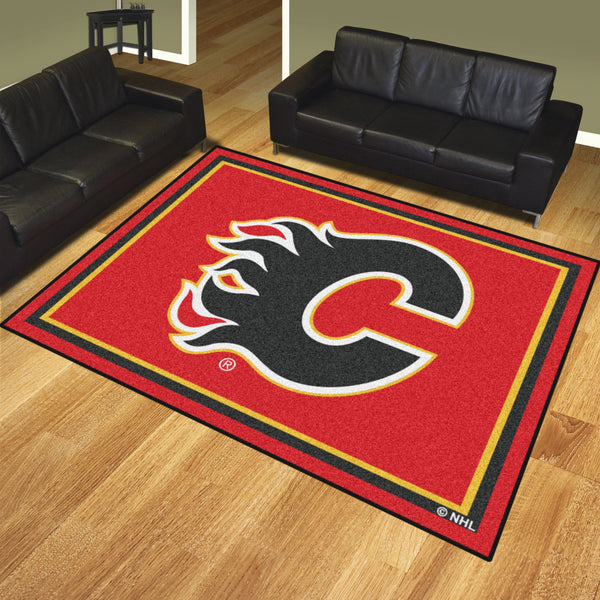 Calgary Flames 8x10 Rug - FANMATS - Dropship Direct Wholesale