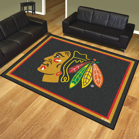 Chicago Blackhawks 8x10 Rug - FANMATS - Dropship Direct Wholesale