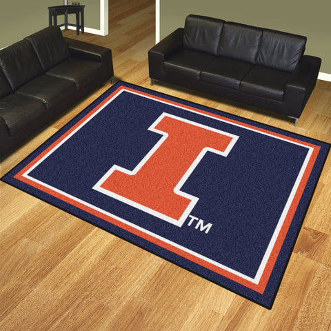 University of Illinois 8x10 Rug - FANMATS - Dropship Direct Wholesale
