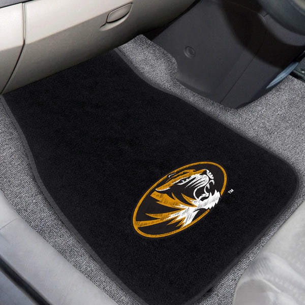 University of Missouri 2-piece Embroidered Car Mats 18x27 - FANMATS - Dropship Direct Wholesale