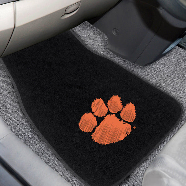 Clemson University 2-piece Embroidered Car Mats 18x27 - FANMATS - Dropship Direct Wholesale