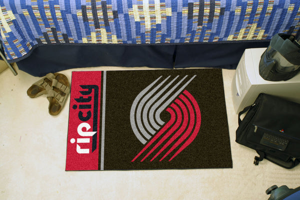 NBA - Portland Trail Blazers Uniform Inspired Starter Rug 19x30 - FANMATS - Dropship Direct Wholesale