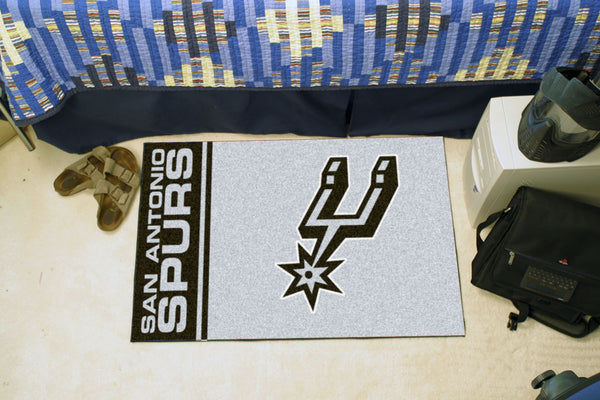 NBA - San Antonio Spurs Uniform Inspired Starter Rug 19x30 - FANMATS - Dropship Direct Wholesale