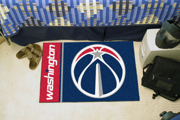 NBA - Washington Wizards Uniform Inspired Starter Rug 19x30 - FANMATS - Dropship Direct Wholesale