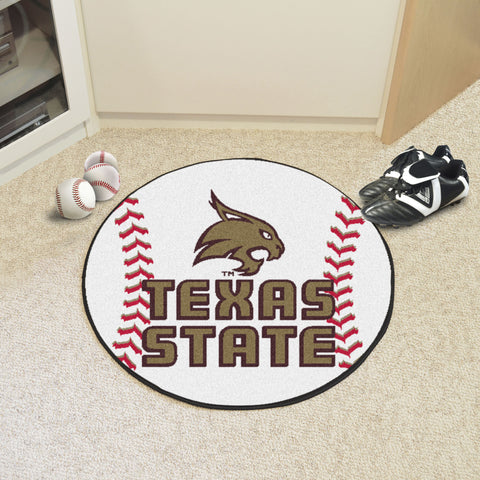 Texas State Baseball Mat 27 diameter - FANMATS - Dropship Direct Wholesale