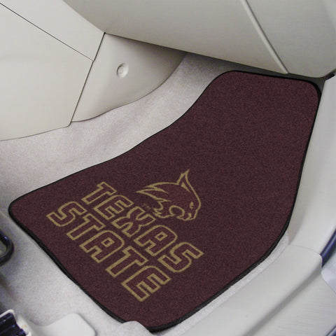 Texas State 2-piece Carpeted Car Mats 17x27 - FANMATS - Dropship Direct Wholesale