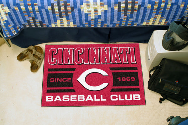 Cincinnati Reds Baseball Club Starter Rug 19x30 - FANMATS - Dropship Direct Wholesale