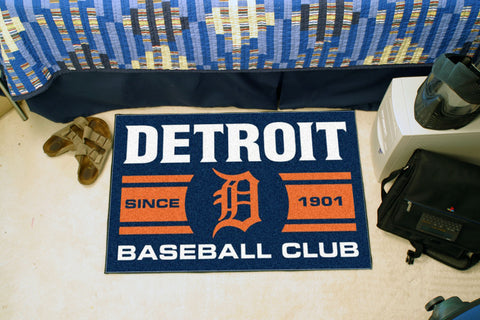 Detroit Tigers Baseball Club Starter Rug 19x30 - FANMATS - Dropship Direct Wholesale