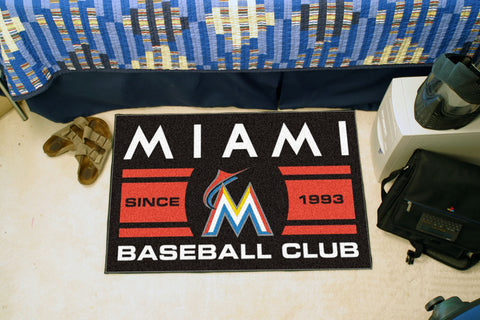 Florida Marlins Baseball Club Starter Rug 19x30 - FANMATS - Dropship Direct Wholesale