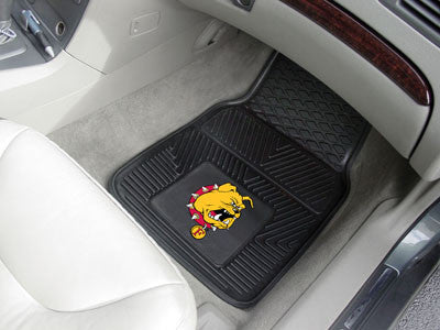 Ferris State Heavy Duty 2-Piece Vinyl Car Mats 17x27 - FANMATS - Dropship Direct Wholesale