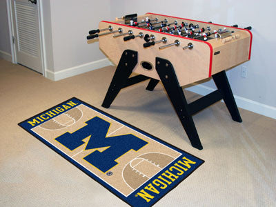 University of Michigan Basketball Court Runner 30x72 - FANMATS - Dropship Direct Wholesale