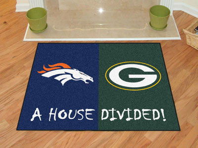 Broncos / Packers NFL House Divided Rug 33.75x42.5 - FANMATS - Dropship Direct Wholesale