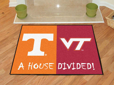 Tennessee / Virginia Tech NCAA House Divided Rugs 33.75x42.5 - FANMATS - Dropship Direct Wholesale