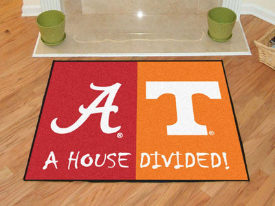 Alabama / Tenneessee NCAA House Divided Rug 33.75x42.5 - FANMATS - Dropship Direct Wholesale