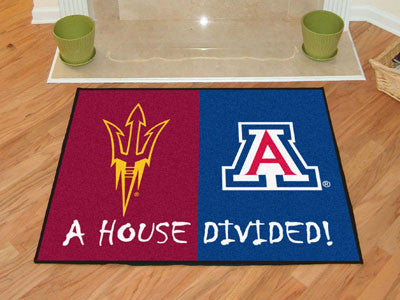 Arizona State / Arizona NCAA House Divided Rug 33.75x42.5 - FANMATS - Dropship Direct Wholesale