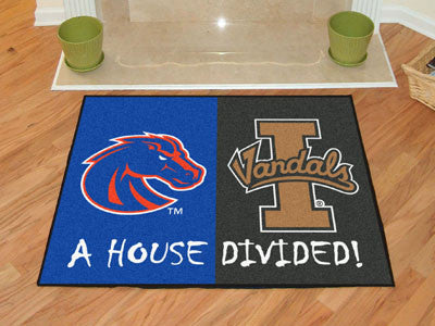 Boise State / Idaho NCAA House Divided Rug 33.75x42.5 - FANMATS - Dropship Direct Wholesale