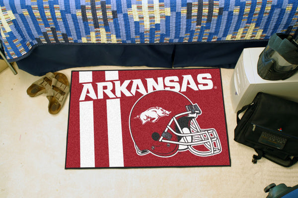 University of ArUniversity of Kansas Uniform Inspired Starter Rug 19x30 - FANMATS - Dropship Direct Wholesale