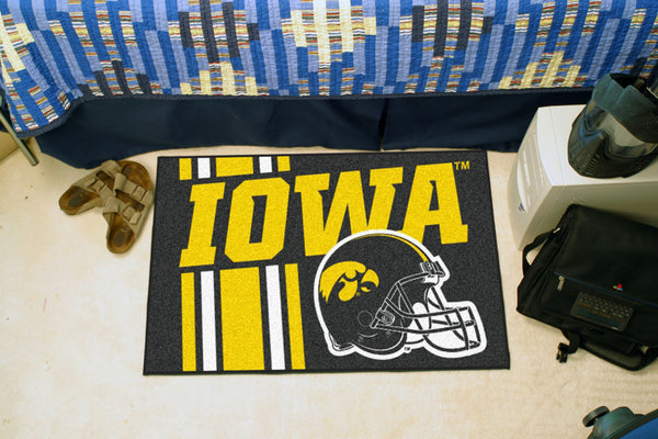 University of Iowa Uniform Inspired Starter Rug 19x30 - FANMATS - Dropship Direct Wholesale