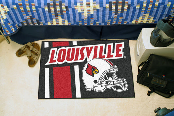University of Louisville Uniform Inspired Starter Rug 19x30 - FANMATS - Dropship Direct Wholesale