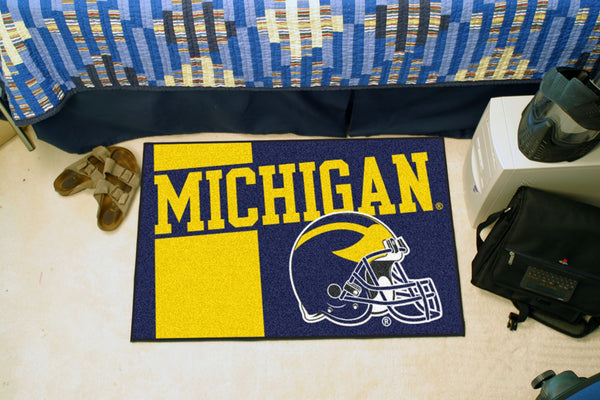 University of Michigan Uniform Inspired Starter Rug 19x30 - FANMATS - Dropship Direct Wholesale