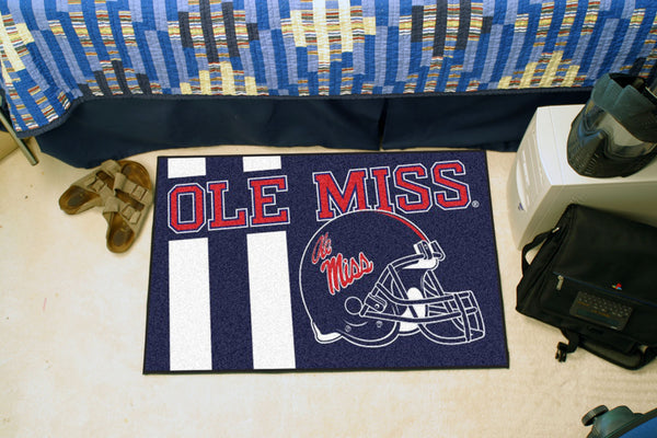 University of Mississippi Uniform Inspired Starter Rug 19x30 - FANMATS - Dropship Direct Wholesale