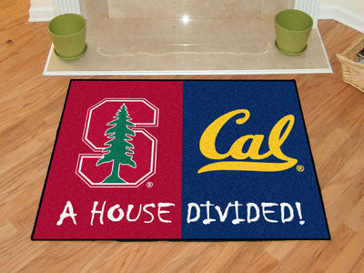 Stanford - UC-Berkeley NCAA House Divided Rugs 33.75x42.5 - FANMATS - Dropship Direct Wholesale