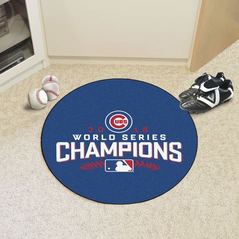 "Chicago Cubs 2016 World Series Champions Baseball Mat 26"" diameter - FANMATS - Dropship Direct Wholesale"
