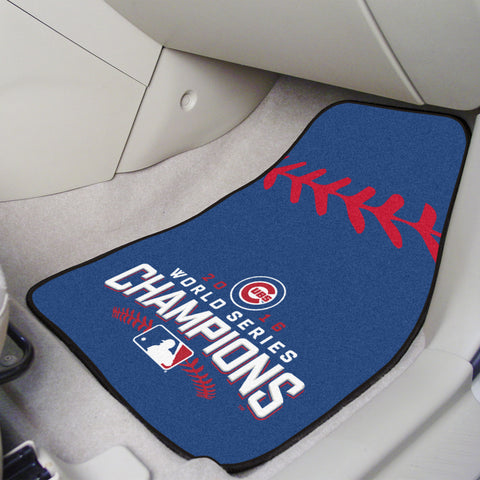 "Chicago Cubs 2016 World Series Champions 2-piece Carpeted Cat Mats 18""x27"" - FANMATS - Dropship Direct Wholesale"