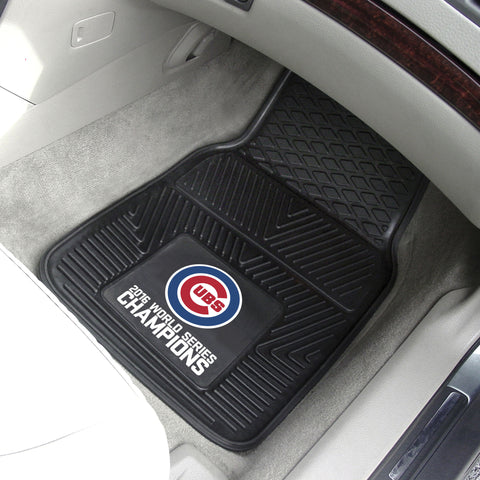 "Chicago Cubs 2016 World Series Champions Heavy Duty 2-Piece Vinyl Car Mats 18""x27"" - FANMATS - Dropship Direct Wholesale"