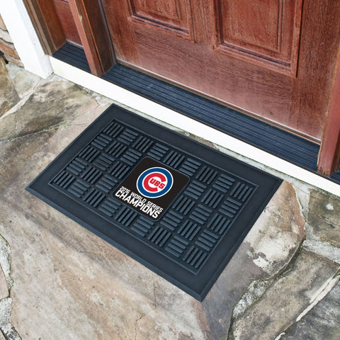 Chicago Cubs 2016 World Series Champions Medallion Door Mat - FANMATS - Dropship Direct Wholesale