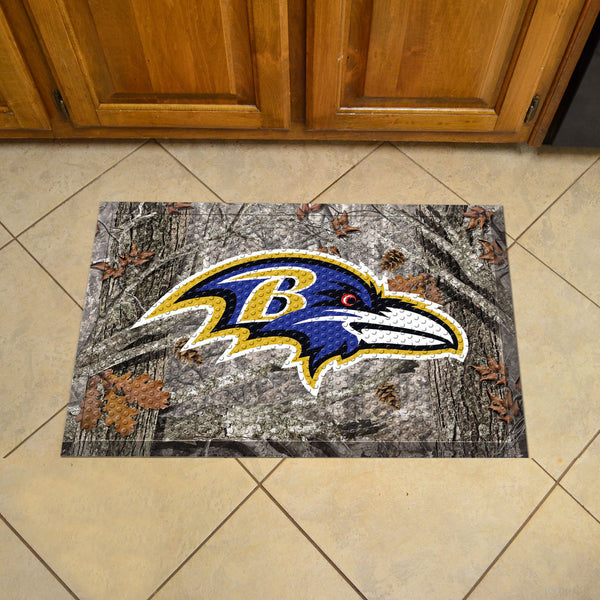 Baltimore Ravens Scraper Mat 19x30 - Camo - FANMATS - Dropship Direct Wholesale