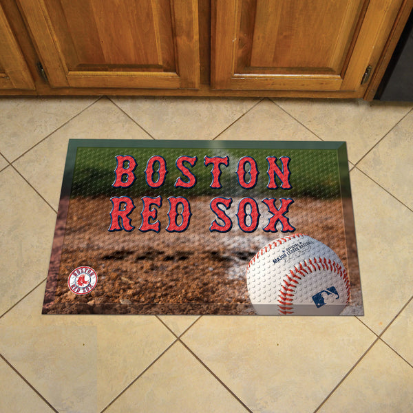 Boston Red Sox Scraper Mat 19x30 - Ball - FANMATS - Dropship Direct Wholesale