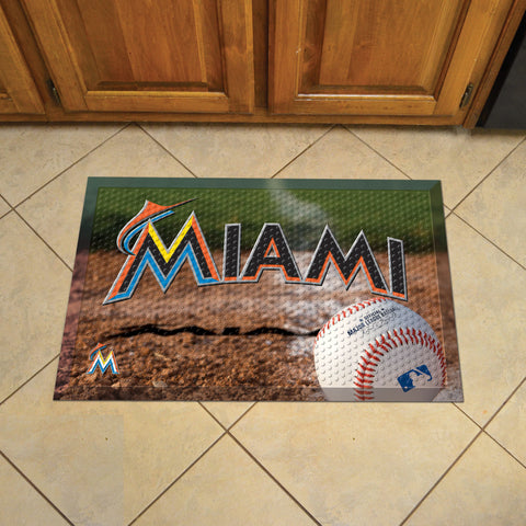 Florida Marlins Scraper Mat 19x30 - Ball - FANMATS - Dropship Direct Wholesale