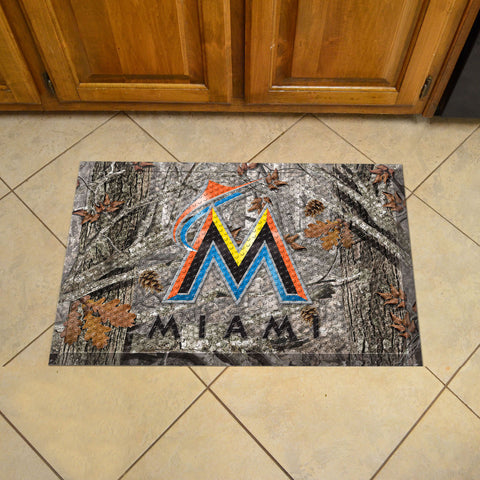 Florida Marlins Scraper Mat 19x30 - Camo - FANMATS - Dropship Direct Wholesale